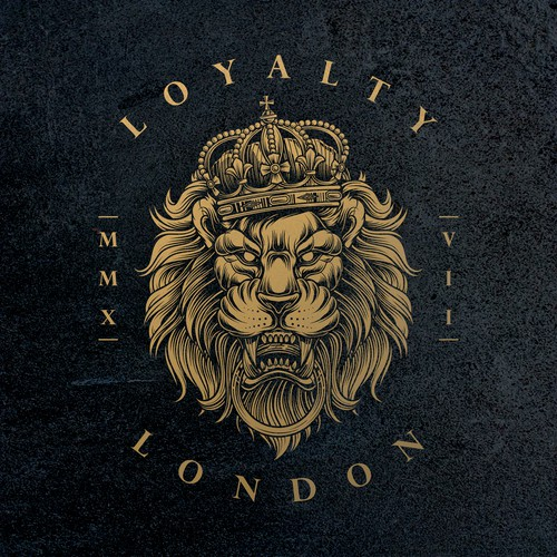Luxury Lion Logo for Loyalty London Clothing Brand