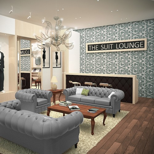 Interior Design for a Men's high end suiting showroom