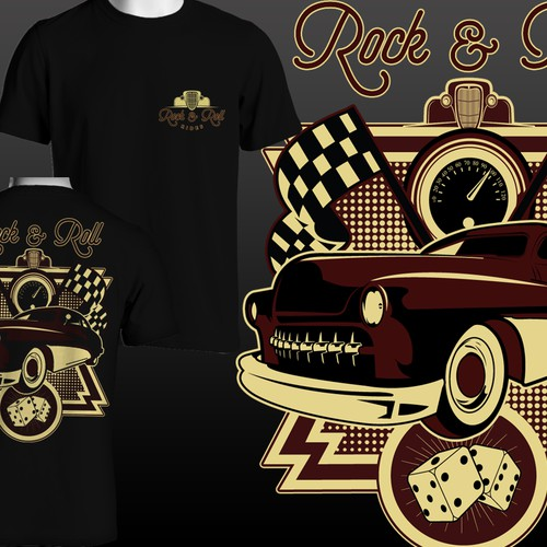 Create multiple T-shirt Designs For a Hot Rod and Classic car shop