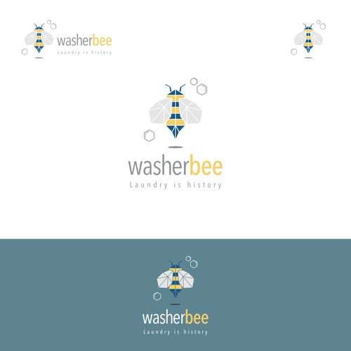 Fun logo for monthly laundry subscription service