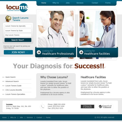 website design for www.csulocums.com