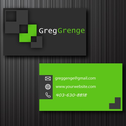 Business Card design for Double G Consulting