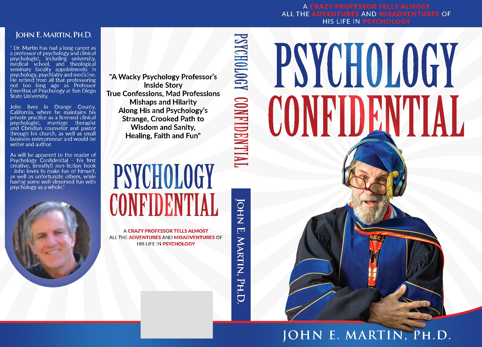 Cover for book on funny stories about a psychology professor's experiences with students and clients
