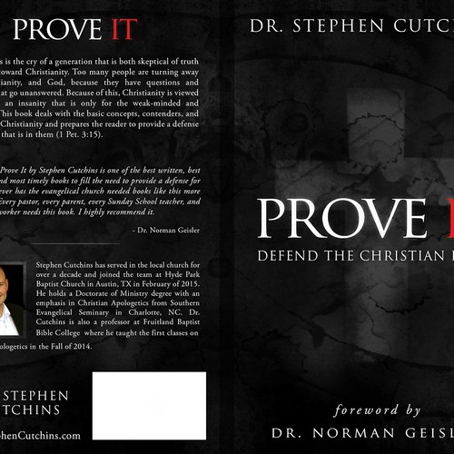 "Create a unique yet simple cover for a book title ""Prove It"" on defend the Christian faith."