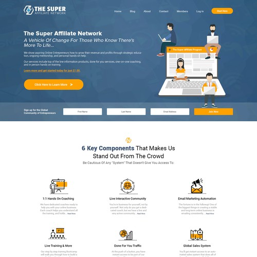 Website design for The Super Affiliate Network