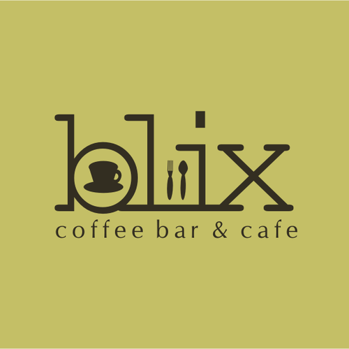 Logo concept for Blix Cafe Bar
