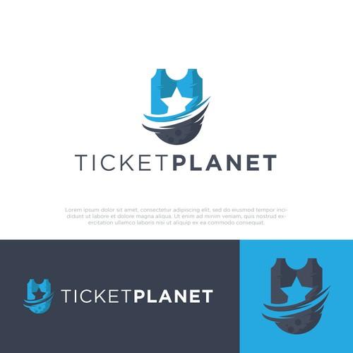 TICKETPLANET logo design