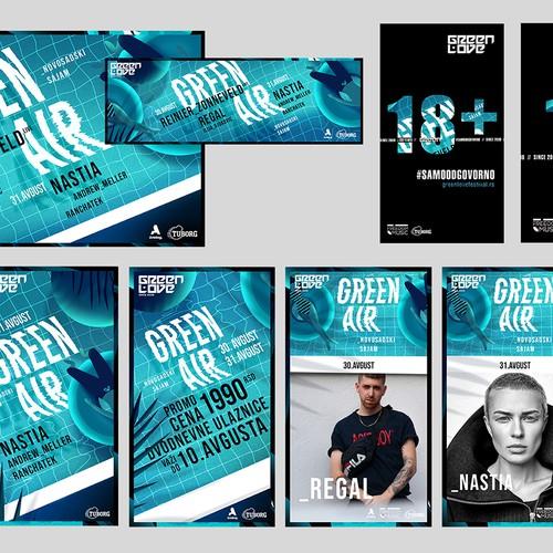 Green Air Festival - Branding & Illustration