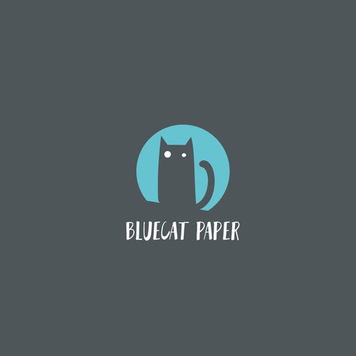 Simple, flat character design for Bluecat paper — creative, inspiring and arty