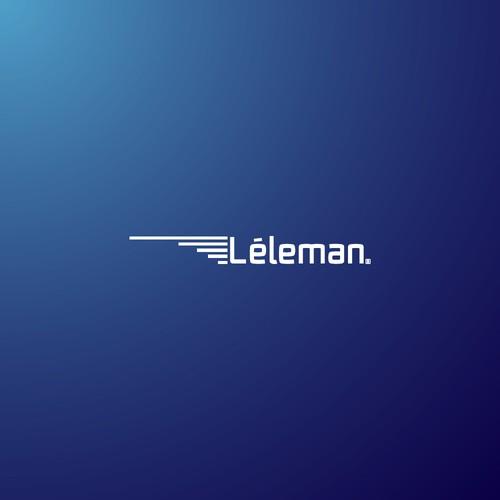 Agujas léleman logo concepto