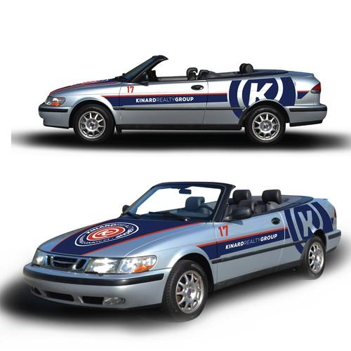 Modern Car Wrap for KINARD REALTY GROUP