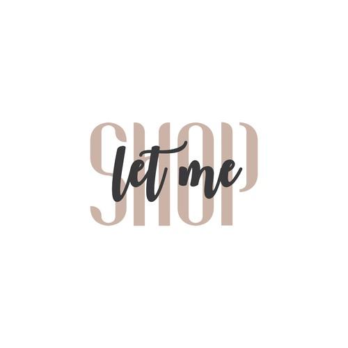 Logo concept for Let Me Shop