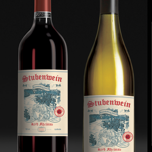 Wine label design.