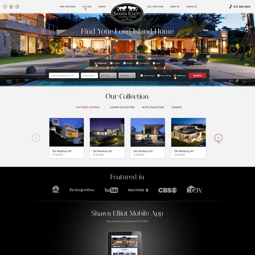 Homepage Redesign For Boutique Real Estate Firm