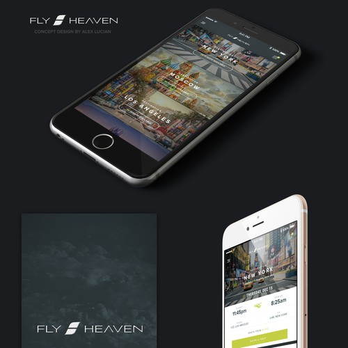 Fly Heaven App - Concept design