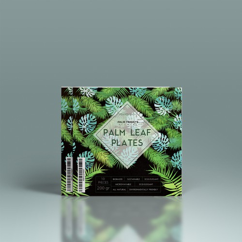 Floral Palm concept for Eco-Plates