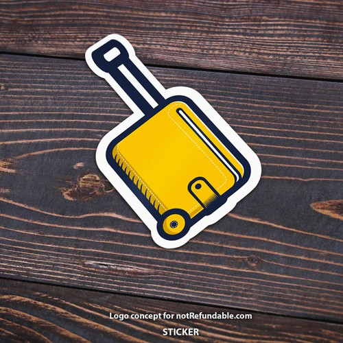 Logo in form of a sticker, or a keys accessory
