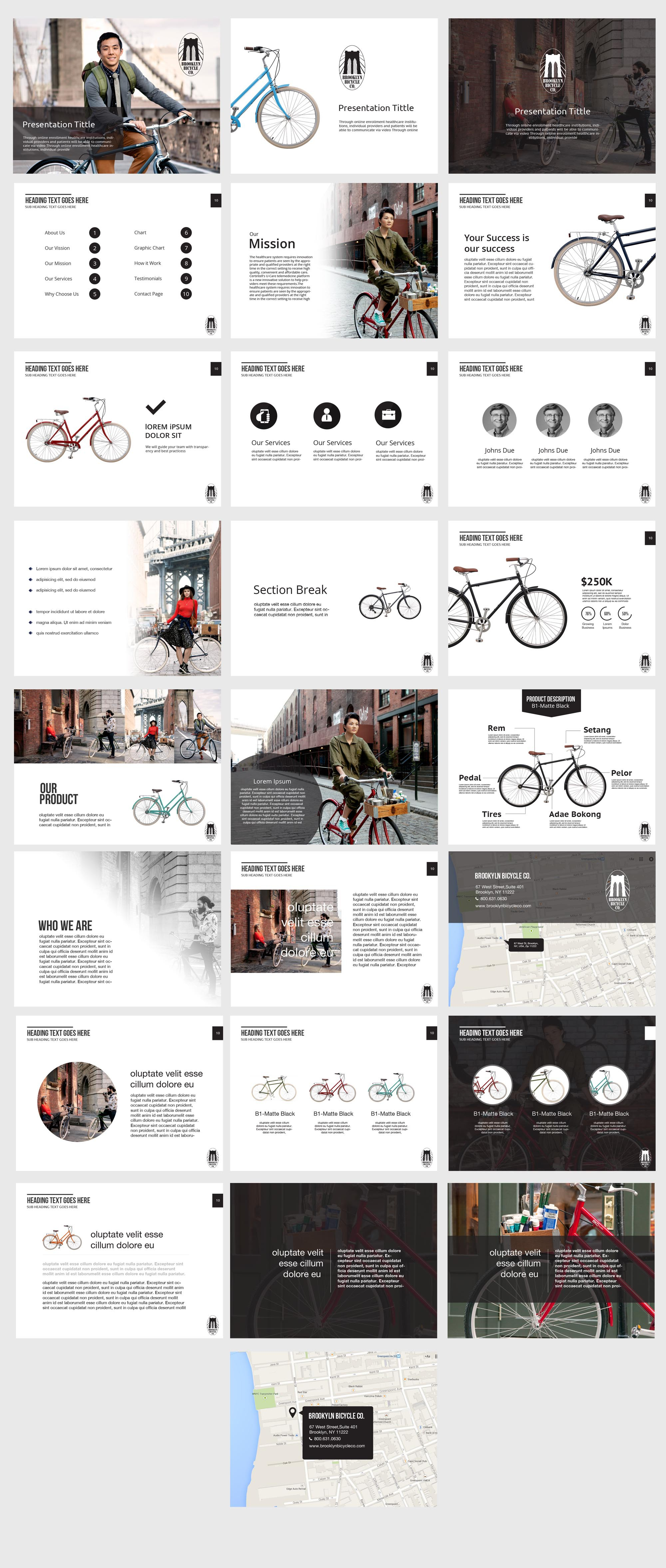 Powerpoint Design for Lifestyle Brand - Title Page & Master Slide