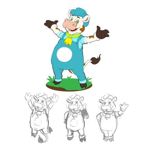 Milk Cow Mascot