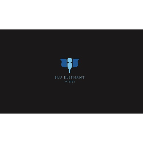 Create the next logo for Blu Elephant Wines