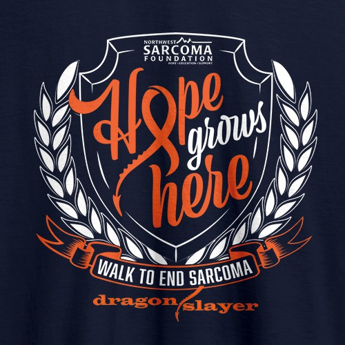 Hope Grows Here - Walk to End Sarcoma Tshirt Design