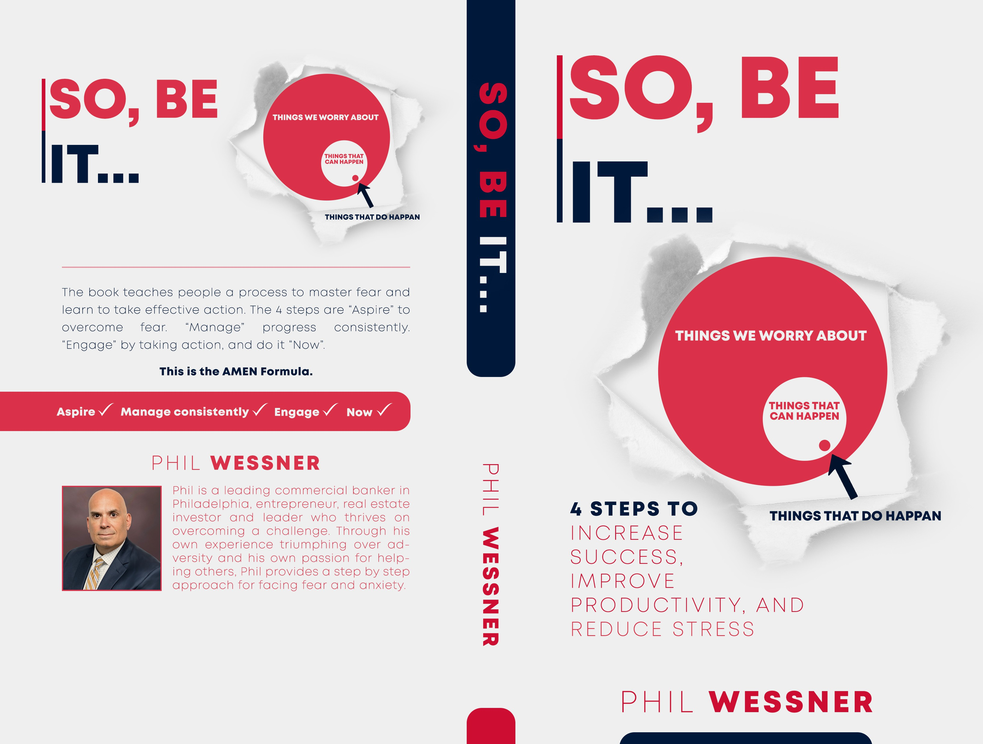 Design an effective book cover to help people master fear