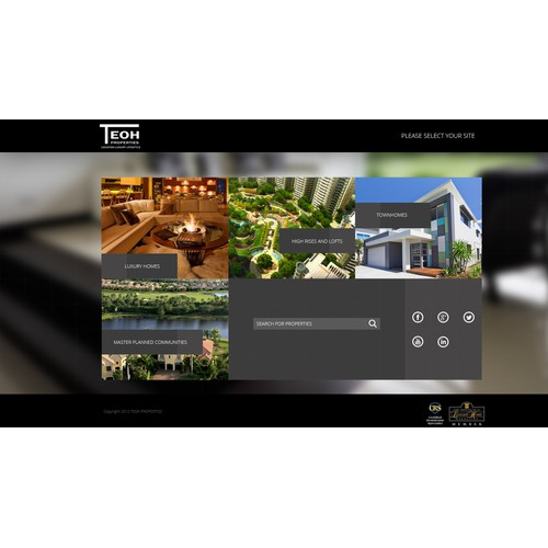 TEOH Properties web design