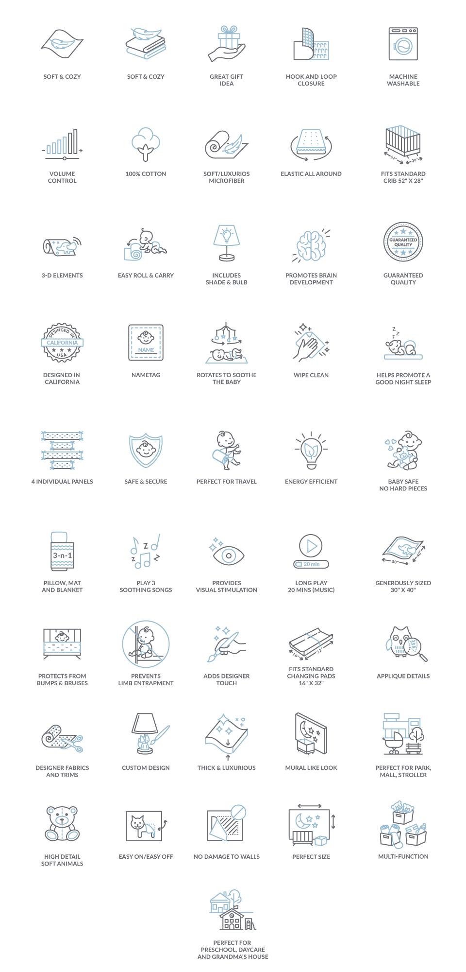 Icons for Amazon Enhanced Brand Content (EBC)