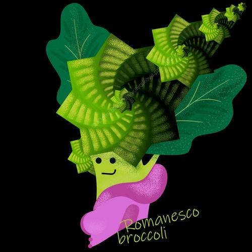 Romanesco broccoli fractals funny print