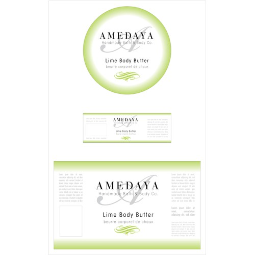 Simple, Clean Label Design for Bath & Body Company