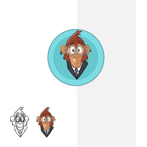 Monkey logo character