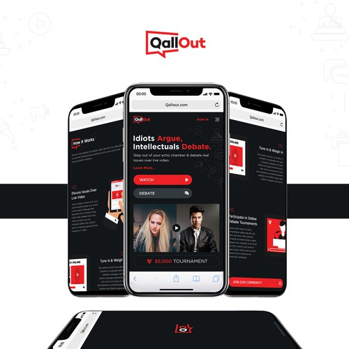 QallOut Mobile Website Homepage Design
