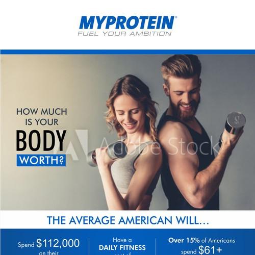 Finalist-Myprotein US Health & Fitness Spending Habits Infographic