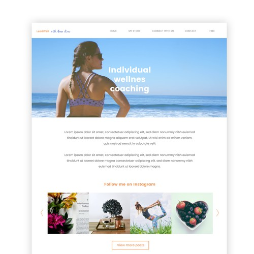 Design for wellness coaching website