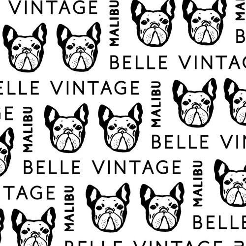 Vintage Frenchie logo