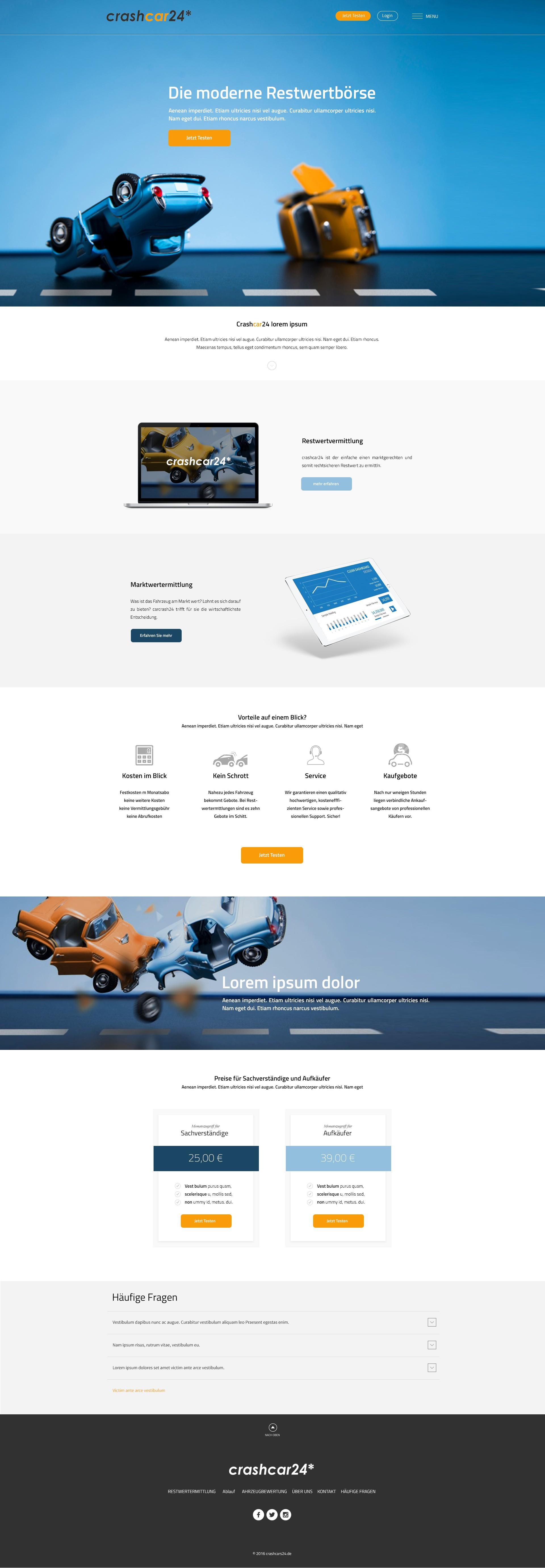 Erstellt eine Homepage für carshcar24*