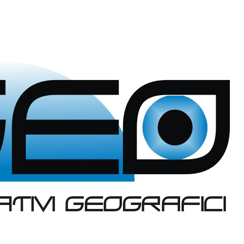 Logo for a geographic services company