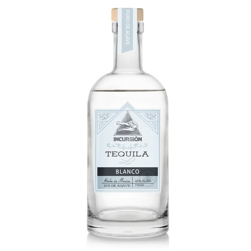 Clean retro label for tequila