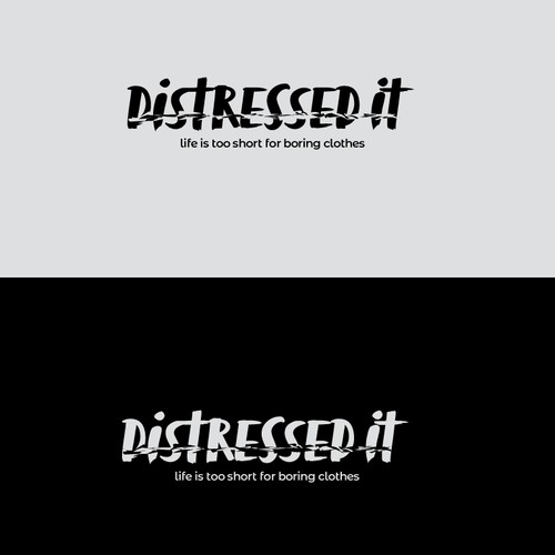 Logo concept for distressed tshirts
