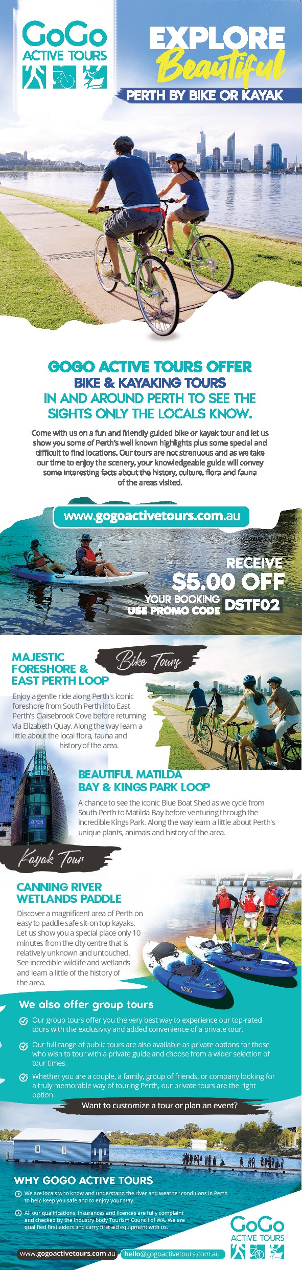 Double sided Tourism flyer