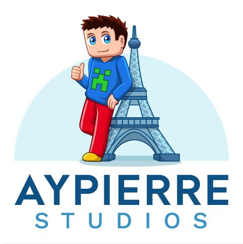 Créé un logo enfantin pour une société autour de minecraft