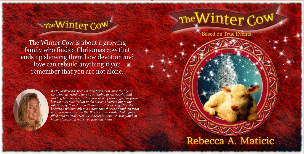 Design a book cover to show that a Christmas cow can be the real deal