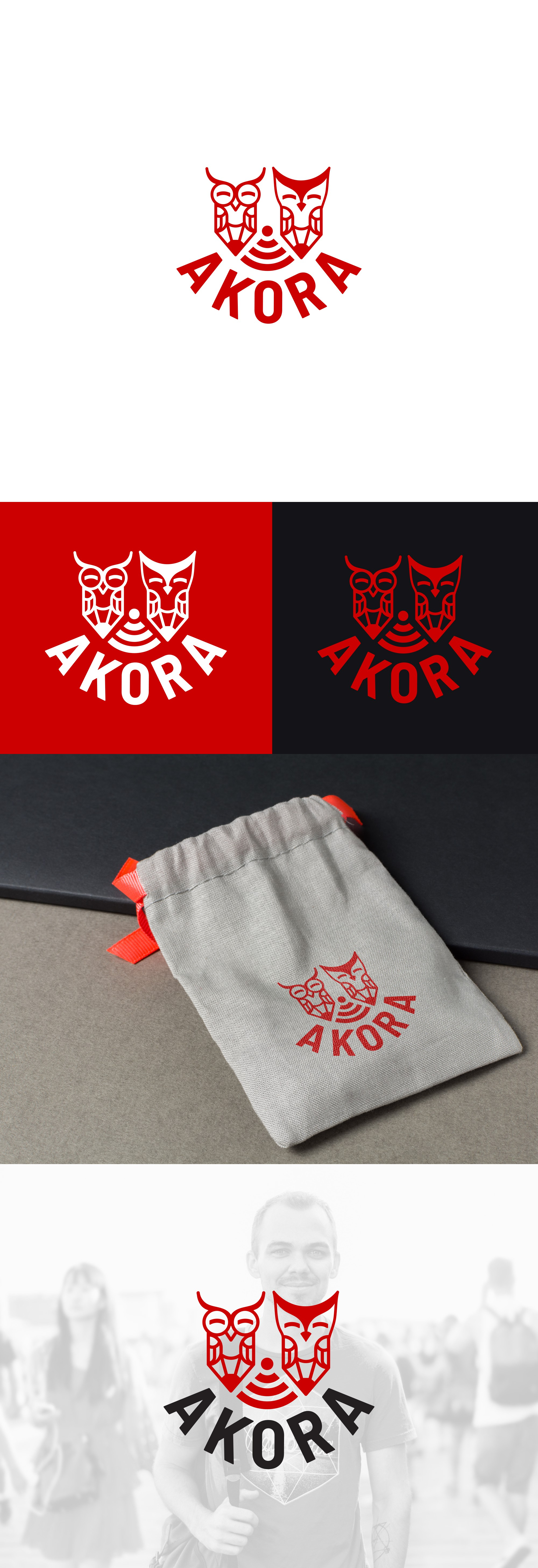 Modern logo for Akora, a community for lifestyle learners