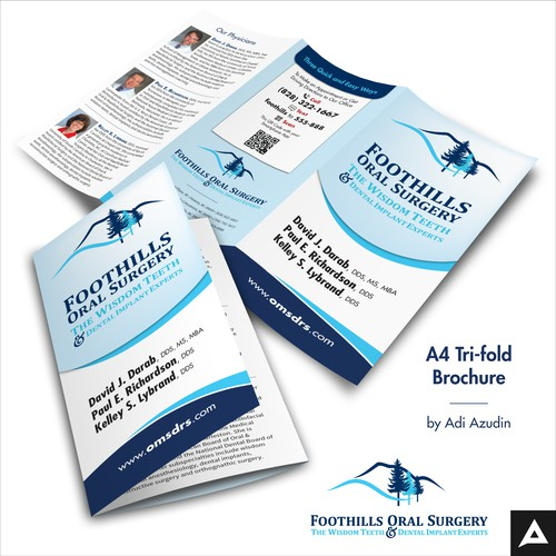 A4 Tri-fold Brochure for Foothills Oral Surgery