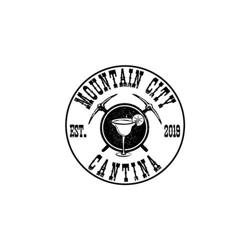 Rocky Mountain Mining Town Tex Mex Restaurant Logo