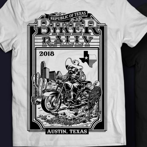biker rally in Austin Texas seeking t-shirt designs
