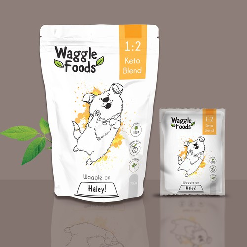 Waggle Foods Pouch Packaging