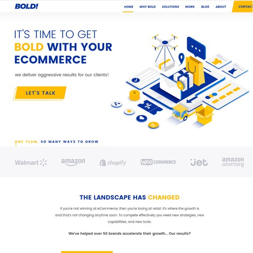 Bold web design for eCommerce Brand
