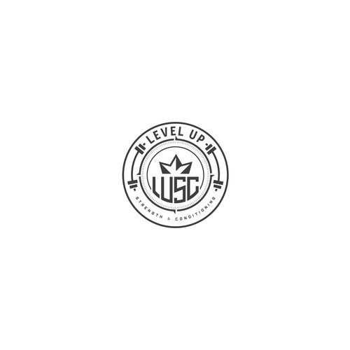 Level up logo concept