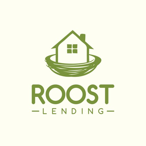 Create a mortgage broker logo for Roost Lending